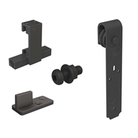 Système coulissant droit sur fer plat ROCDESIGN pour portes bois jusqu'à 80 kg Mantion RD-C-B
