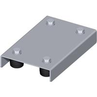 Plaque de guidage acier largeur 140 mm diamètre olive 40 mm : PRODIF-SOMEC F974
