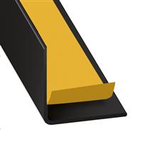 Cornière d'angle adhésive PVC noir laqué - 20 x 20 mm - longueur 1.3 m CQFD 2071-89550