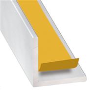 Cornière d'angle adhésive aluminium incolore - 20 x 20 mm - épaisseur 1.5 mm - longueur 2.6 m CQFD 2070-5321