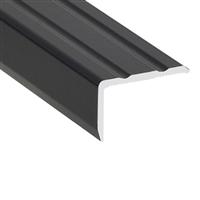 Nez de marche percé équerre 25 x 20 mm matière Alu noir longueur 3 m Romus 1518