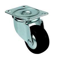Roulette sur platine pivotante caoutchouc diamètre 50 mm PRODIF-SOMEC 022316/RS