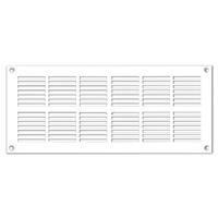 Grille de ventilation PVC extra-plate - 254 x 110 mm - Blanc