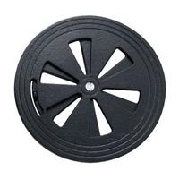 Grille de ventilation réglable en fonte pour air chaud - Ø150 - Noir