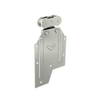 Monture fixation sur plat avec galet acier pour rail 62x55 : Mantion 0261