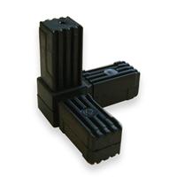 Raccord pour tube carré Alu Type 3 - 20 x 20 mm - lot de 2 CQFD 2004-7006