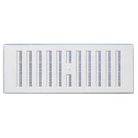 Grille de ventilation réglable intérieur avec moustiquaire - 193 x 91 mm