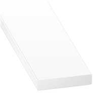 Profilé plat en PVC blanc - largeur 25 mm - épaisseur 5 mm - longueur 1 mètre CQFD 2002-80540