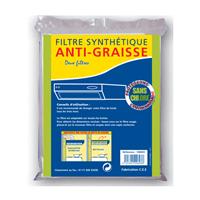Filtre synthétique pour hottes de cuisine - 114 x 47 cm - Autogyre
