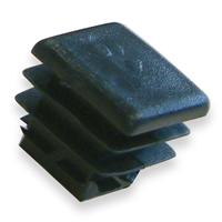 Embout carré entrant pour tube - noir - 10 x 10 mm - lot de 10 CQFD 2004-7402