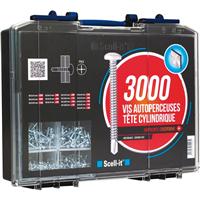 Coffret 3000 vis autoperceuses tête cylindrique empreinte Phillips TCC Scell-It COF003-TCC