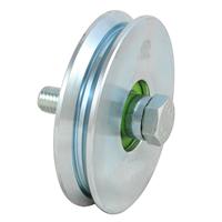 Galet Gorge V acier roulement à billes 80 mm PRODIF-SOMEC F902