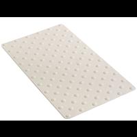 Dalle podotactile intérieur tactidal en caoutchouc 420 x 800 mm blanc : Romus 4250