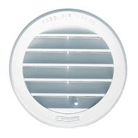 Grille de ventilation ronde à encastrer avec moustiquaire 150 mm Blanc
