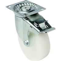 Roulette sur platine pivotante frein blanc 200 mm PRODIF-SOMEC 024075
