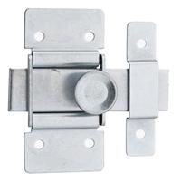 Verrou targette pour meuble - acier zingué - pêne plat 40 mm