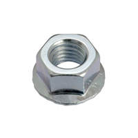 Écrou hexagonal cranté DIN 6923 acier zingué 8 mm VOLVIS 5401001