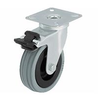 Roulette pivotante à frein caoutchouc gris Ø75 PRODIF-SOMEC 024037