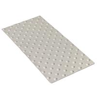 Dalle podotactile Exteline adhésive pour extérieur blanche dimensions 820x400 mm épaisseur 7 mm Romus 4205