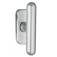 Bouton de fenêtre aluminium pour ouvrant à la française ligne Golf sur platine de 68 x 30 mm Vachette 009070