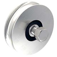Galet à support acier zingué diamètre 60mm Gorge ronde 12mm