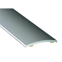 Seuil de porte demi bombé adhésif matière aluminium incolore largeur 40 mm longueur 3.35 mètres : Romus 2246
