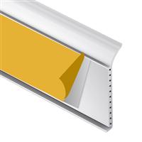 Plinthe adhésive en PVC cellulaire blanc - hauteur 60 mm - longueur 1.3 m CQFD 2071-104