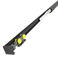 Ensemble SAF SLIM pour porte coulissante de 83 cm capacité 80 kg noir