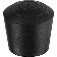 Embout rond enveloppants caoutchouc noir diamètre tube 22 mm PRODIF-SOMEC E4822