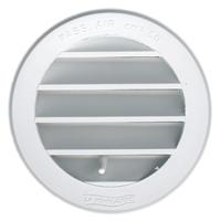 Grille de ventilation réglable à encastrer avec moustiquaire 98 mm Blanc