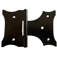 Charnière intermédiaire broche sertie CQFD percée 55x75x93mm acier noir