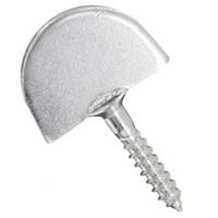 Dardenne droite à visser Torbel acier zingué blanc - vis Ø 7 mm