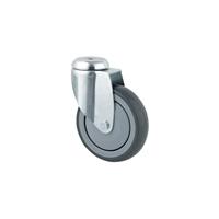 Roulette à oeil caoutchouc grise diamètre 125 mm : PRODIF-SOMEC 002557