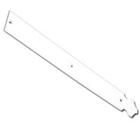 Contre-penture feston percée Torbel blanche 39 x 3 mm longueur 370 mm