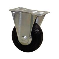 Roulette platine fixe caoutchouc noir Ø 100 mm : PRODIF-SOMEC 023346