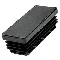 PRODIF-SOMEC Embout rectangulaire entrant noir Øext.40x20 mm : E4340