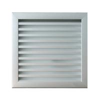 Grille ventilation murale extérieure 200x193mm Aluminium anodisé