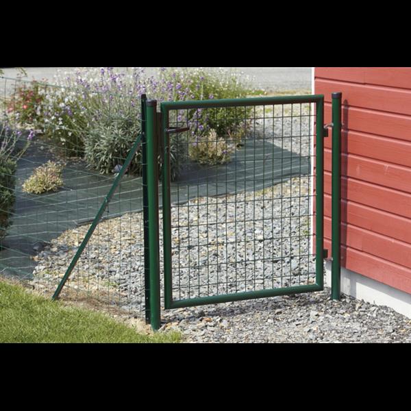 Portillon eco garden double sens sceller vert ral 6005 for Portillon largeur 1m20