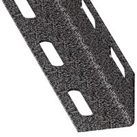 Cornière égale perforée acier laminé froid Gris martelé 27 x 27 mm1 m