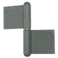 Paumelle de grille profilée lame longue acier brut bague laiton 80 mm