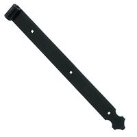 Penture feston percée Torbel noire 39 x 4 mm gond 14 mm longueur 415 mm