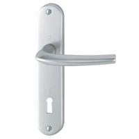 Poignée de porte clé en L SAN DIEGO Hoppe Alu finition argent 3537858