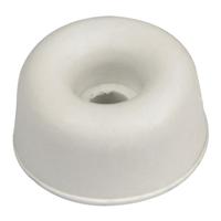 Butoir caoutchouc blanc diamètre 30 mm hauteur 25 mm 000571