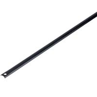 Tringle demi-ronde noire percée 16x5 mm 1300 mm Jardinier Massard Jardinier-Massard J062173