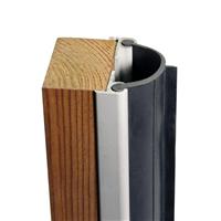 Joint isolation coupe-feu porte va-et-vient 36-44 mm 2.5 m noir