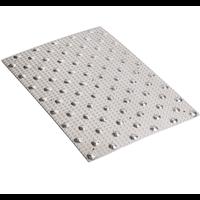 Dalle podotactile dalum en aluminium larmé pour extérieur 982 x 420 mm : Romus