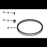 Kit de brosse de réparation pour rotalaveuse RoadCleaner UFO 13.820 Kränzle