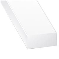 Profilé rectangulaire en PVC blanc - largeur 10 mm - hauteur 4 mm - longueur 1 mètre CQFD 2002-80330