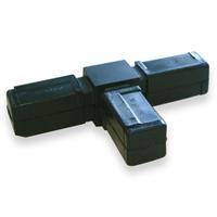 Raccord pour tube carré Alu Type 2 - 20 x 20 mm - lot de 2 CQFD 2004-7004