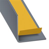 Cornière d'angle adhésive PVC gris titane - 20 x 20 mm - épaisseur 1 mm - longueur 2.6 m CQFD 2070-90500